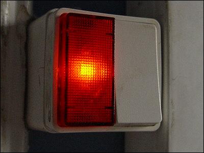 afbryder med lys